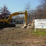 Construction on the Cranford Crossing project