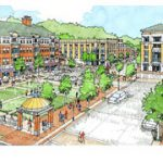Rendering of Wesmont Station's Town Square