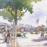 Proposed Main Street looking toward Princeton Junction Station